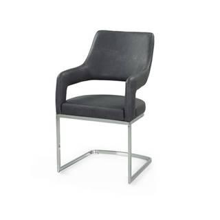 Jedálenská stolička BEATE sivá/chróm