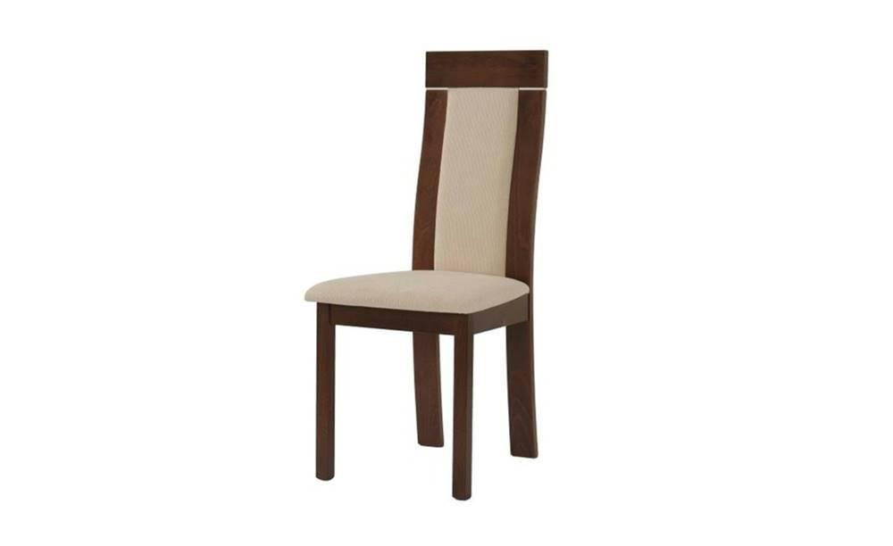 Sconto Jedálenská stolička ELENA orech/béžová